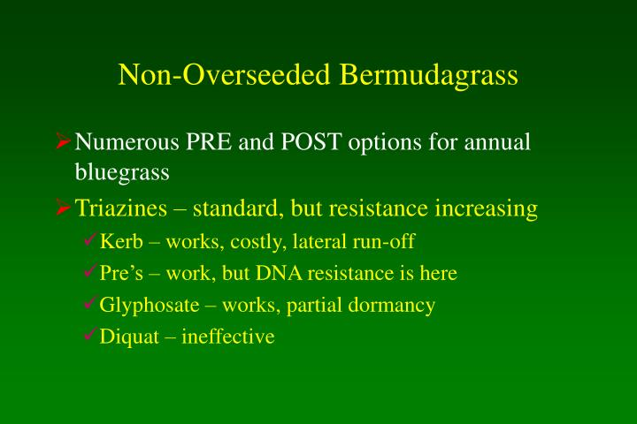 Non-Overseeded Bermudagrass