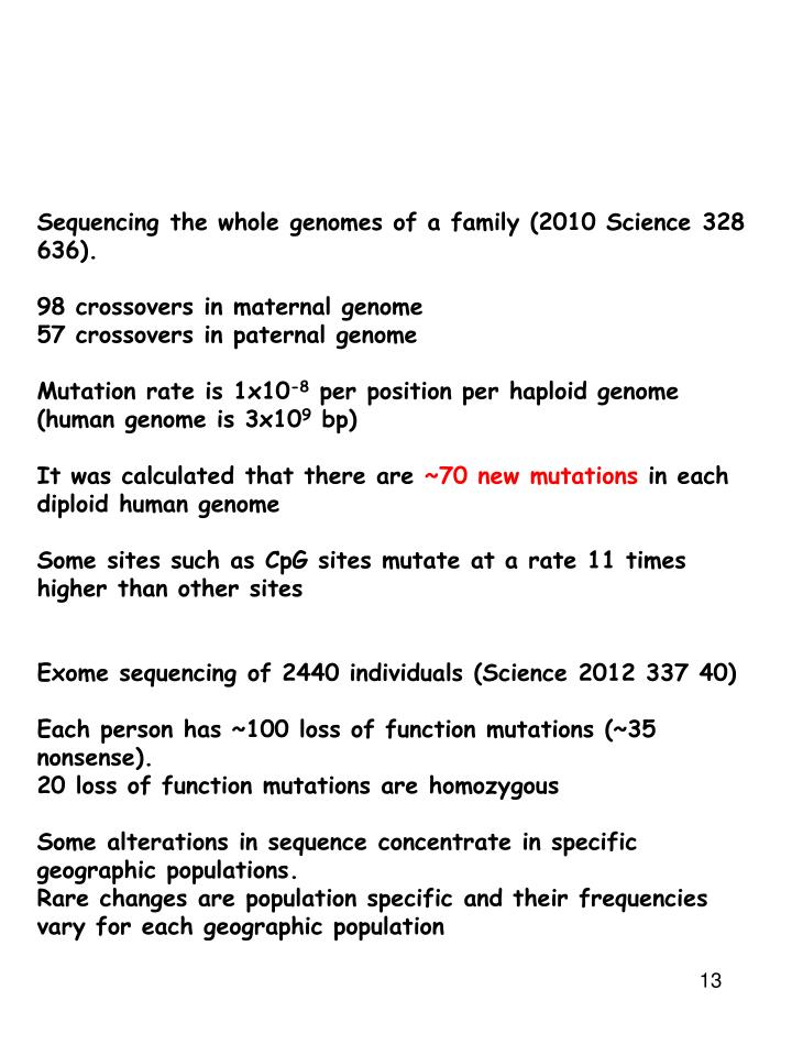Sequencing the whole genomes of a family (2010 Science 328 636).
