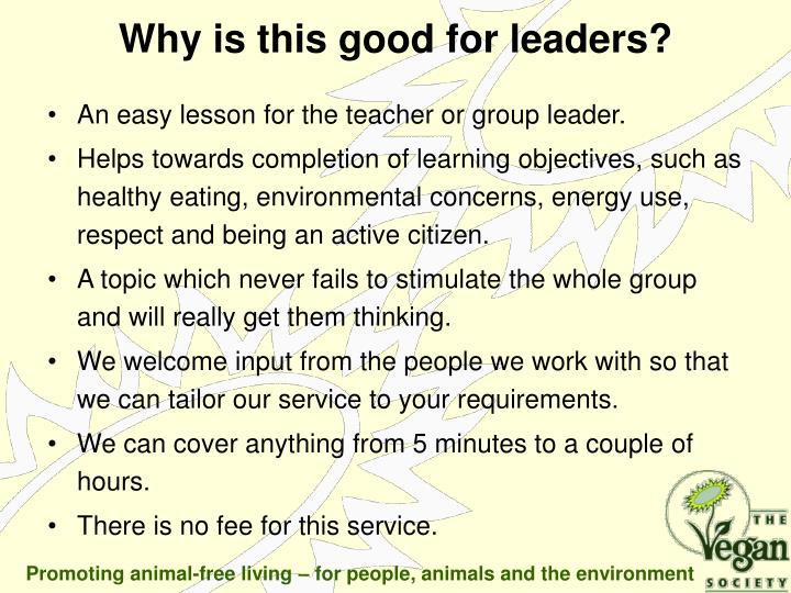 An easy lesson for the teacher or group leader.