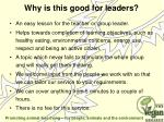 why is this good for leaders