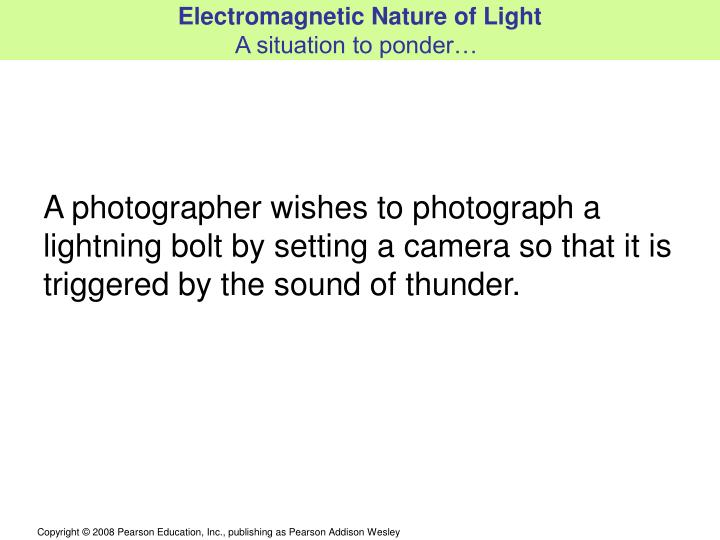 Electromagnetic Nature of Light