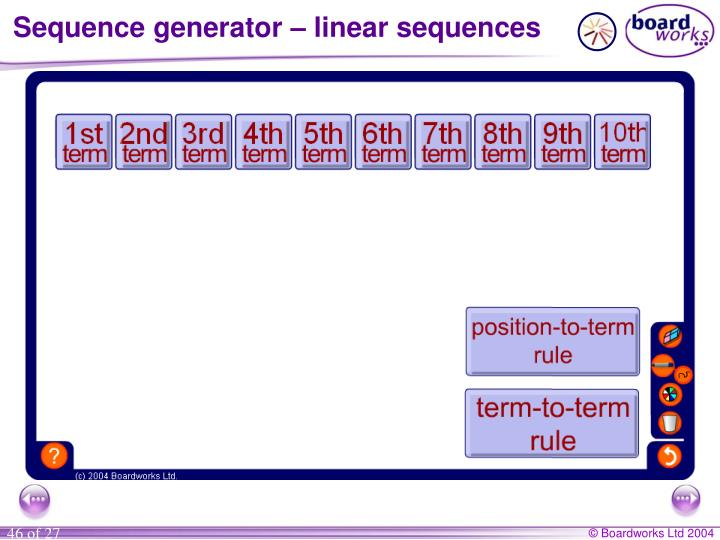 Sequence generator – linear sequences