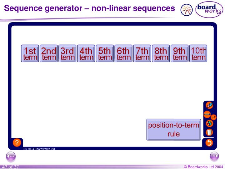 Sequence generator – non-linear sequences