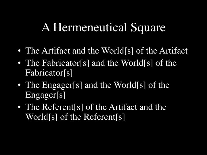 A Hermeneutical Square
