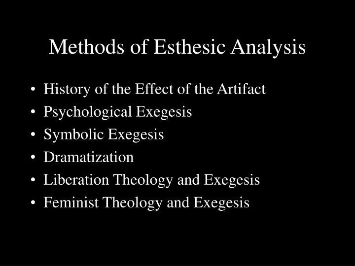 Methods of Esthesic Analysis