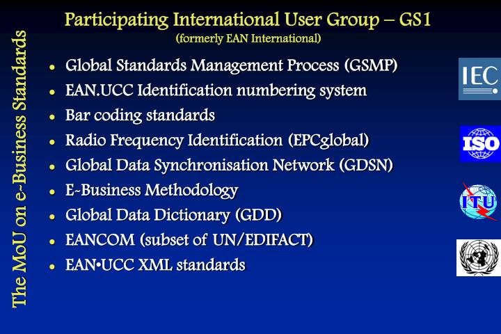 Participating International User Group – GS1