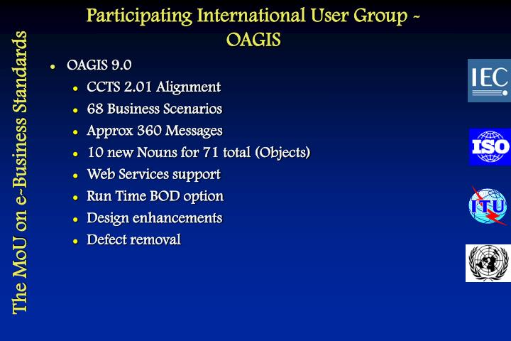 Participating International User Group - OAGIS