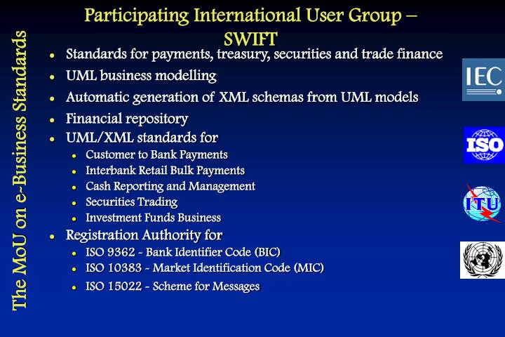 Participating International User Group – SWIFT