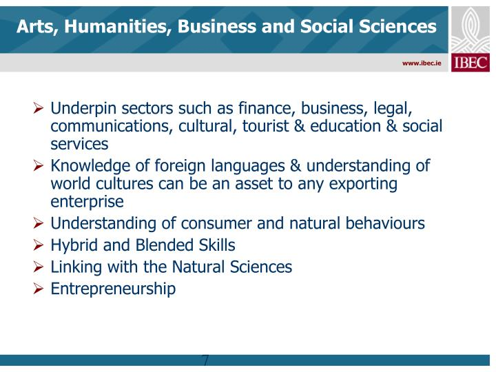 Arts, Humanities, Business and Social Sciences