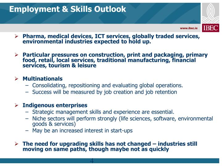Employment & Skills Outlook