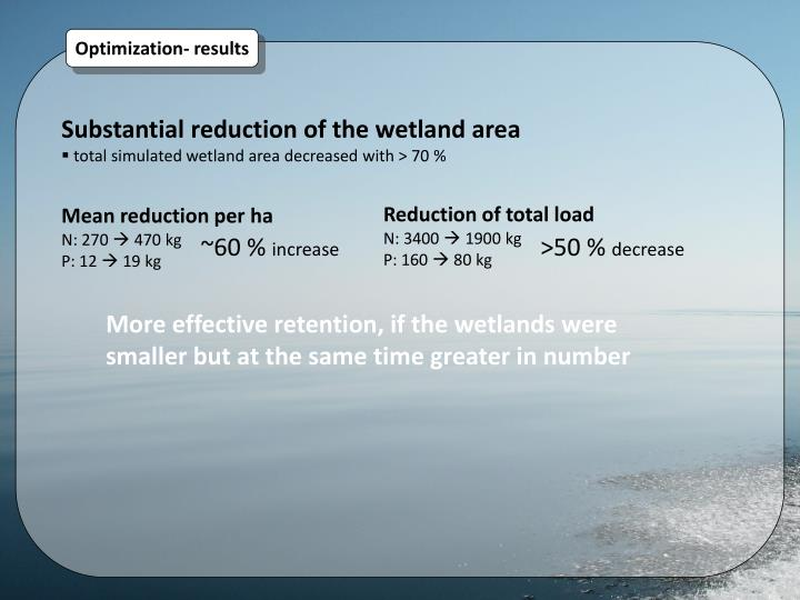 Reduction of total load