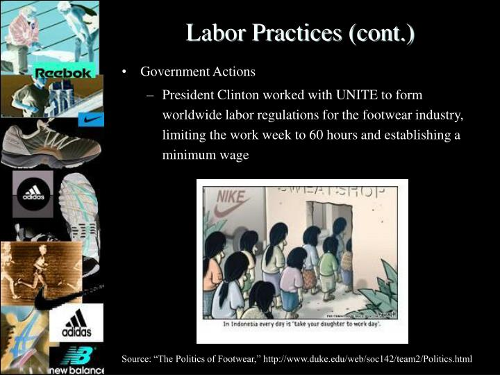Labor Practices (cont.)