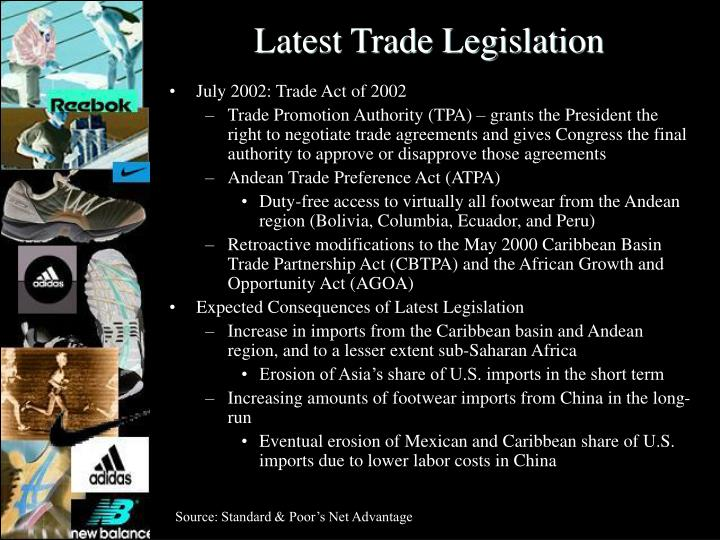 Latest Trade Legislation