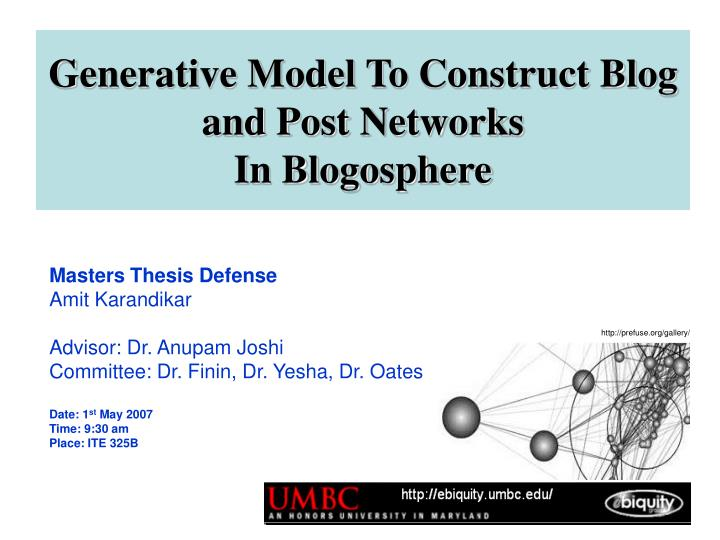 Generative Model To Construct Blog and Post Networks