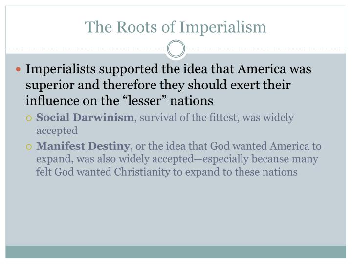 The Roots of Imperialism