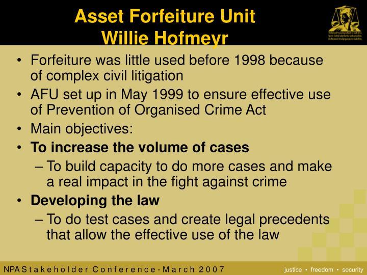Asset Forfeiture Unit