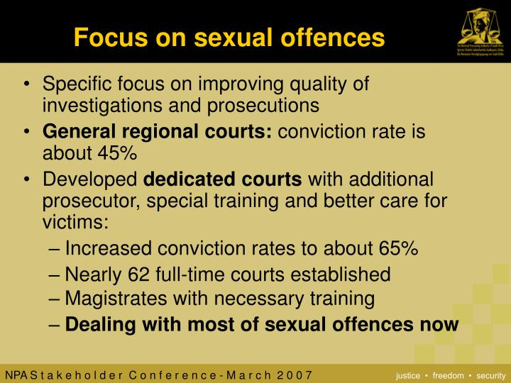 Focus on sexual offences