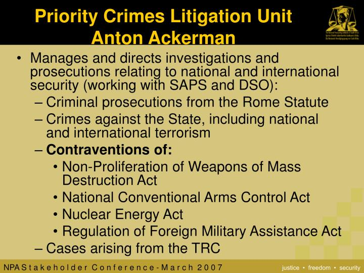 Priority Crimes Litigation Unit