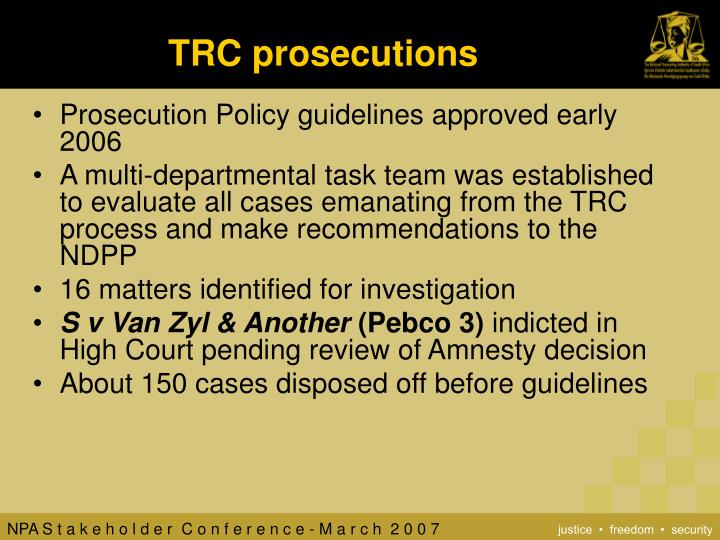 TRC prosecutions