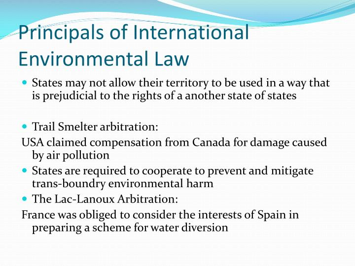 Principals of International Environmental Law