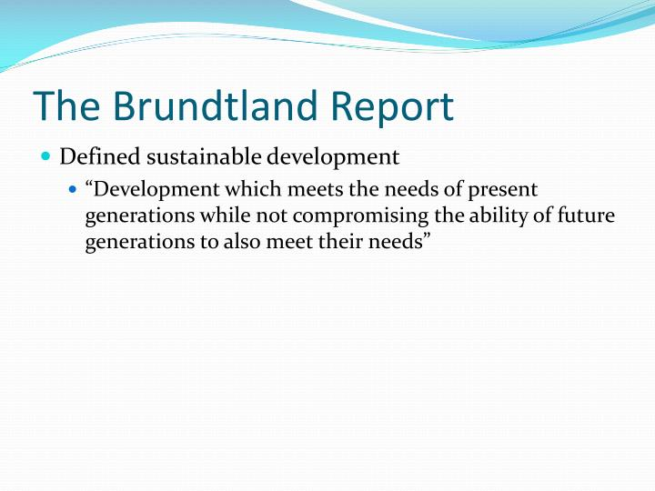 The Brundtland Report