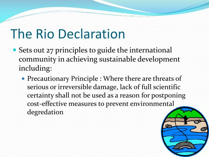 The Rio Declaration