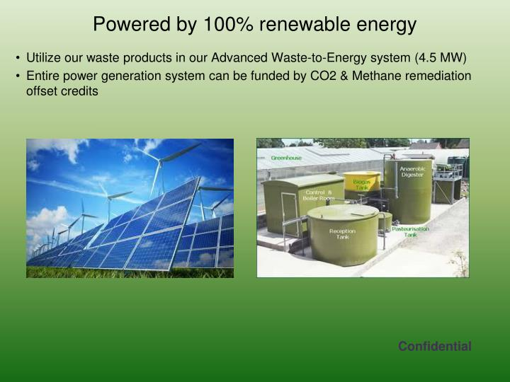 Utilize our waste products in our Advanced Waste-to-Energy system