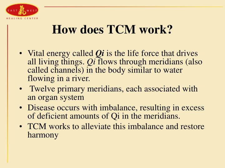 How does TCM work?