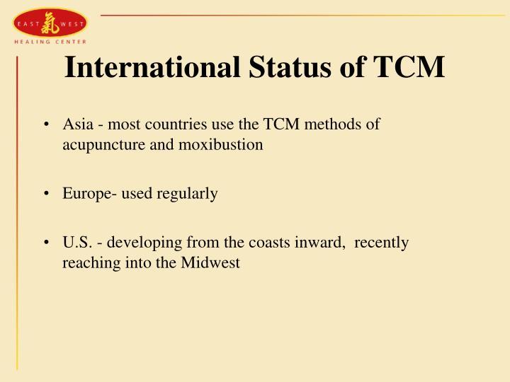 International Status of TCM