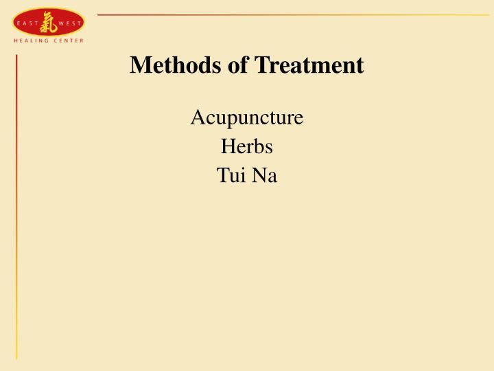 Methods of Treatment