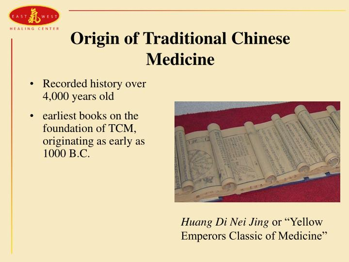 Origin of Traditional Chinese Medicine