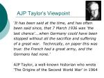 ajp taylor s viewpoint