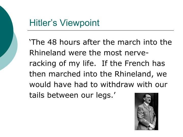 Hitler's Viewpoint