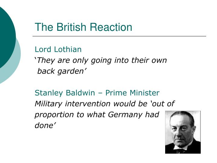 The British Reaction