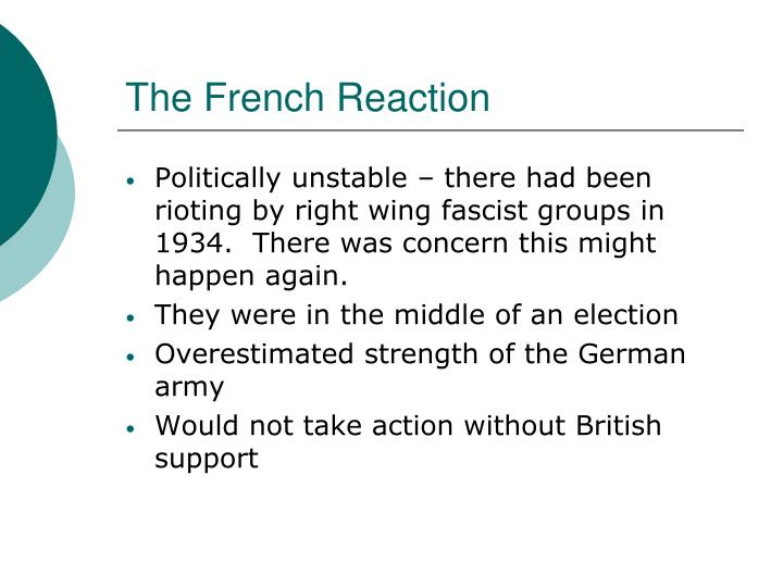 The French Reaction