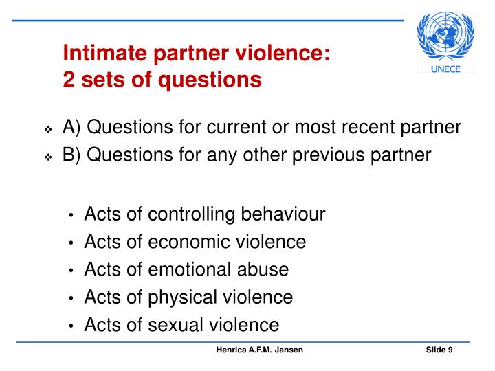 Intimate partner violence: