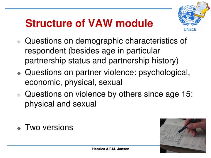 Structure of VAW module