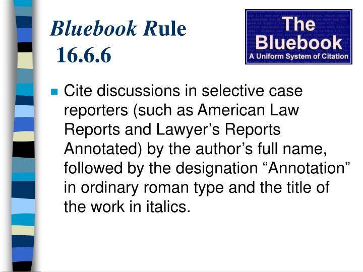 Bluebook R