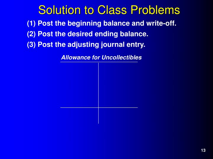 Solution to Class Problems