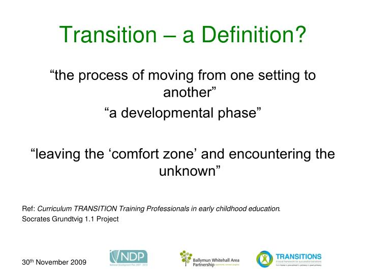 transition definition pädagogik