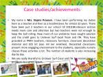 case studies achievements1