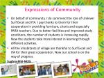 expressions of community
