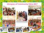 glimpses of community mela mlt