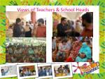 views of teachers school heads