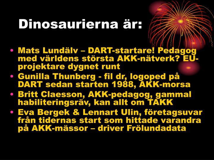 Dinosaurierna är: