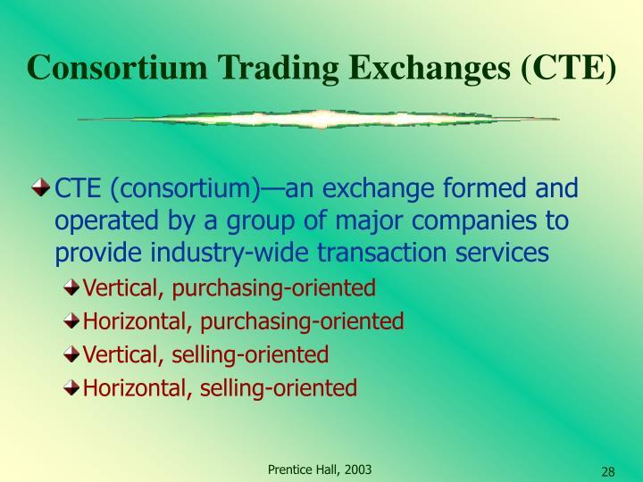 Consortium Trading Exchanges (CTE)