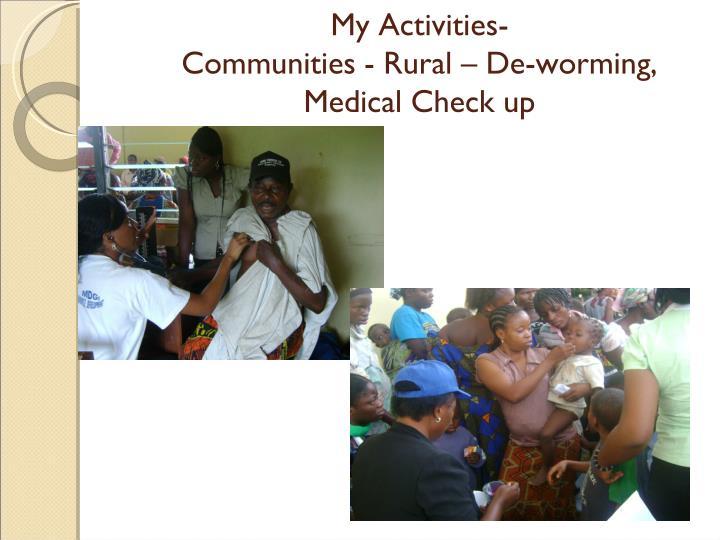 My Activities-