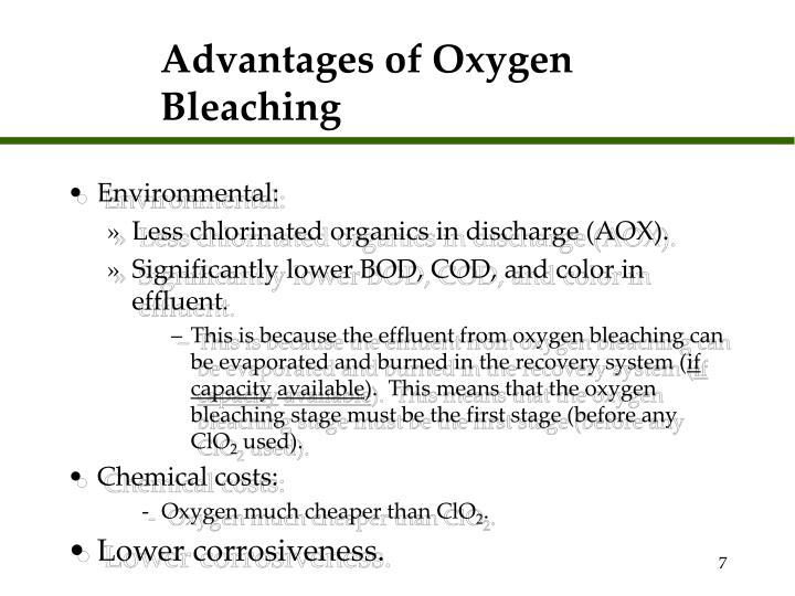 Advantages of Oxygen Bleaching