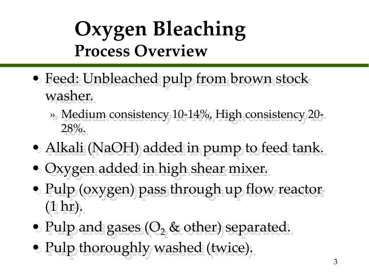 Oxygen bleaching process overview