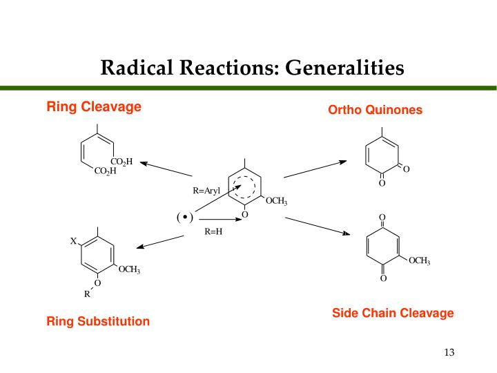 Radical Reactions: Generalities